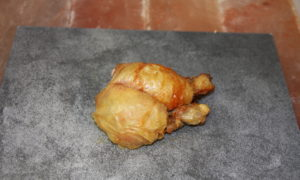 Cooked chicken leg