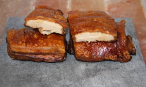 Belly pork cooked